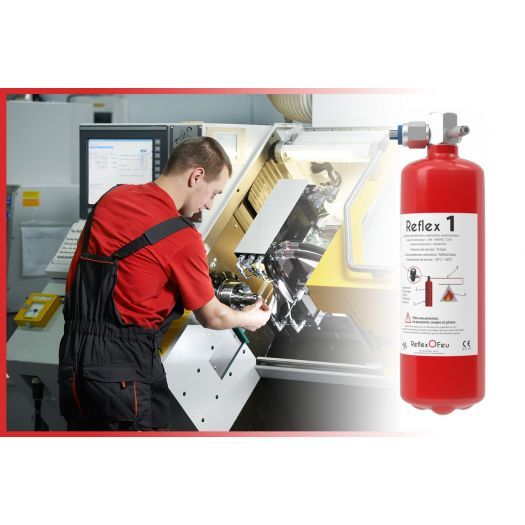 Protection incendie modulaire machines d'usinage REFLEX 1KG / 1 m3 - Industrie online