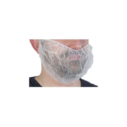 Cache barbe PP blanc - Industrie online